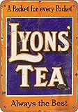 KODY HYDE Metall Poster - Lyon's Tea Always - Vintage