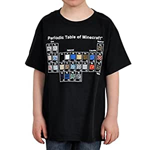 """Minecraft T-Shirt - Minecraft Periodic Table (KIDS SIZES) (Small (30"""" Chest))"""