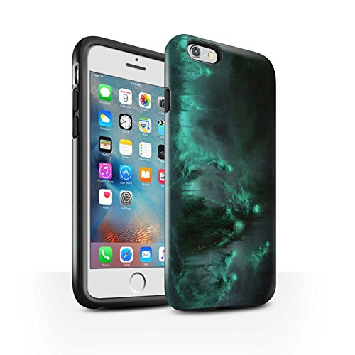 Offiziell Chris Cold Hülle / Glanz Harten Stoßfest Case für Apple iPhone 6S+/Plus / Hades/Phantom Muster / Unterwelt Kollektion Hades/Phantom