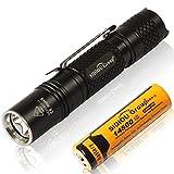 Sidiou Group Mini 900LM LED XP-L2 linterna Luces antorcha de luz de búsqueda al aire libre Luz de antorcha de aluminio con 14500 600mAh batería recargable