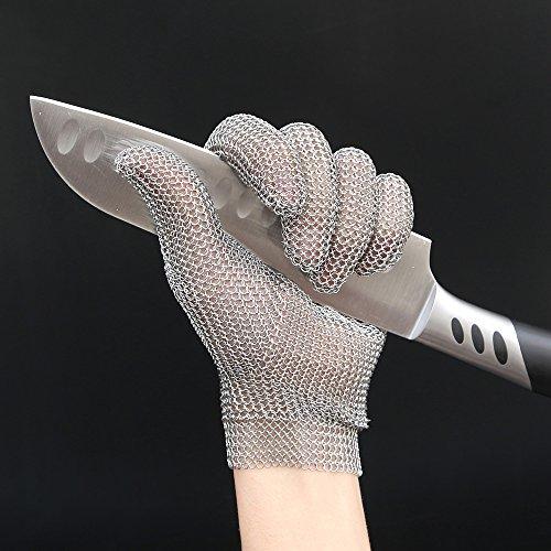 Anself Schnittschutzhandschuhe Küchenhandschuhe aus Edelstahl