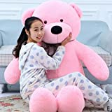 Pihu Enterprises Stuffed Spongy Teddy Bear Cuddles, Pink (3 Feet)