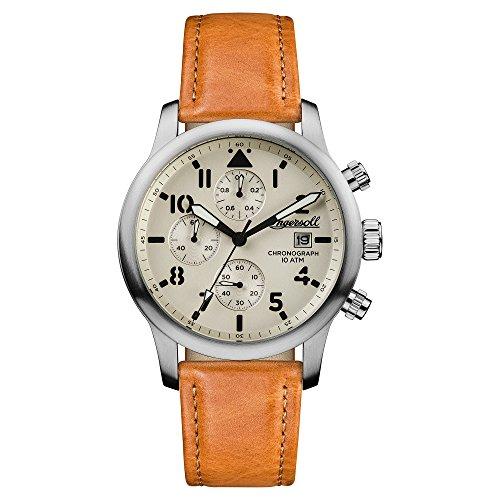 Ingersoll Herren Analog Automatik Uhr mit Leder Armband I01501
