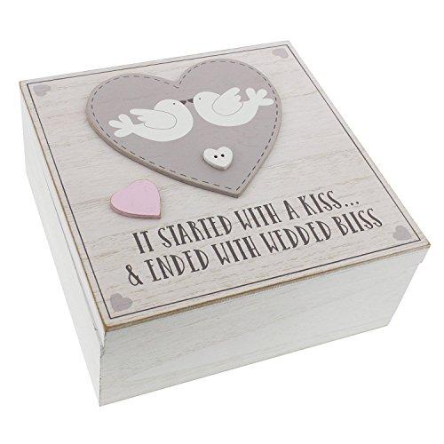 Love Story Vintage Style Love Herz Hochzeit-Andenken Box Andenken Box Wedding