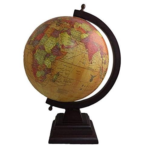 Home Décor Tisch Deko Weltkarte Handarbeit Kunststoff Globe Holz stehend Home Decor Antik 35,6cm hoch
