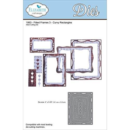 Price comparison product image Elizabeth Craft Metal Die Fitted Frames 3 Curvy Rectangles