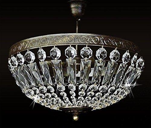 Burg 3 Licht Kronleuchter (Deckenleuchte ANTIK VIENNA 3Leuchten Ø40cm aus Glaßkristalle statt UVP259€)