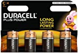 Duracell MN1400 Plus Power Alkaline C Size Batteries, 4 Batteries