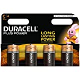 Duracell Plus Power Alkaline Batterien C (MN1400/LR14) 4er Pack