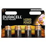 Duracell Plus Power Alkaline Batterien C 4er Pack