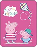 PEPPA PIG RECREATION Plaid 110x140cm PEPPA PIG RECREATION Plaid fond rose 110x140cm - Composition : 100% polyester