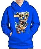 SUDADERA Clash Royale Rey (L, Azul)