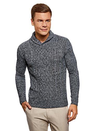 Oodji Ultra Hombre Suéter Punto Texturizado Cuello