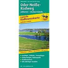 Oder-Neiße-Radweg Jablonec - Ueckermünde: Leporello Radtourenkarte mit Ausflugszielen, Einkehr- & Freizeittipps, wetterfest, reissfest, abwischbar, ... 1:50000 (Leporello Radtourenkarte / LEP-RK)
