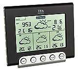 TFA Dostmann Cielo satellitengestützte Funk-Wetterstation, Wetterdirekt Technologie, Profi-Wetterprognose, lokale Außentemperatur
