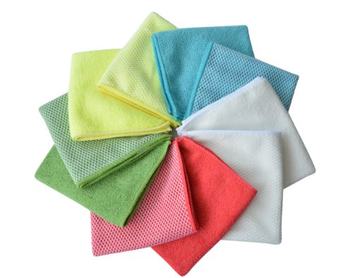 6ac82510bcb8b 70% OFF on Sinland Microfiber Dish Cloth Best Kitchen Cloths Cleaning Cloths  With Poly Scour Side 12Inchx12Inch wholesale Assorted Color 10 Pack on  Amazon ...