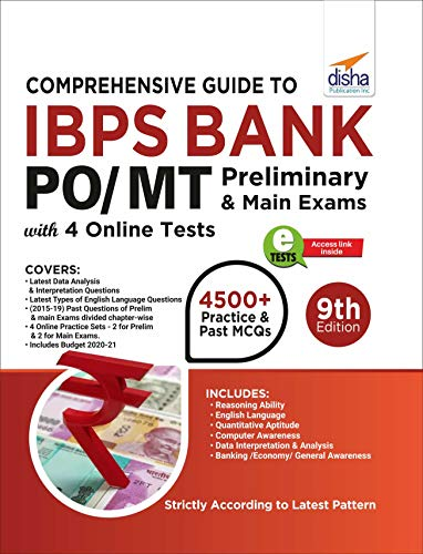 Comprehensive Guide to IBPS Bank PO/ MT Preliminary & Main Exams with 4 Online CBTs (9th Edition)