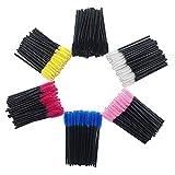 Huapan Pettine Ciglia e Sopracciglia, Scovolini Mascara Monouso 300 Pezzi, Multicolore Set Pennelli Make Up Professionali per Applicare il Mascara
