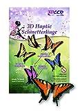 Schmetterlinge 3d samtig, Orange, 10 Stück, Schmetterling Deko Made in Germany Schmetterling Wanddeko auf Papier Karton Wandtattoo Aufkleber mit Klebepunkt zum Basteln wie echt Party Tapete Wand