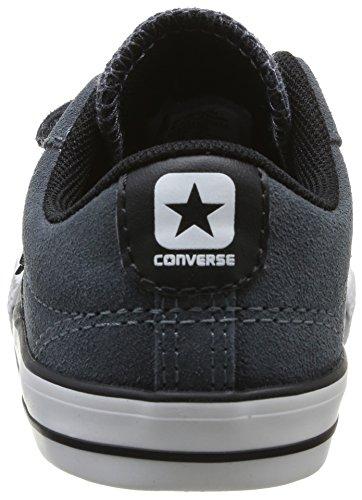 Converse Star Player Enfant 2V Suede Ox, Baskets mode mixte enfant Gris (122 Anthracite)