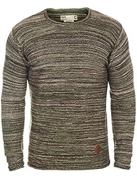 SOLID Menghi Herren Sweater Pullover aus 100% Baumwolle Meliert
