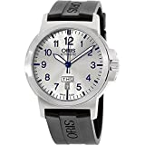 Oris BC3 da uomo 42 mm silicone Band Steel case Automatic Watch 73576414161RS