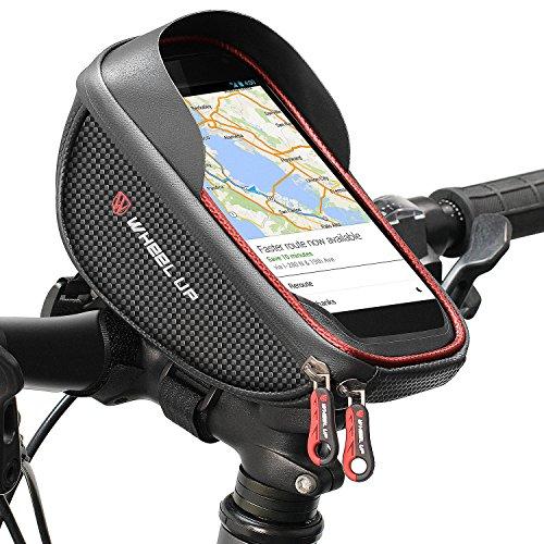 DOUSPT Fahrradtasche,Fahrradtaschen Fahrrad Handytasche Wasserdicht Lenkertasche Fahrrad Tasche Handyhalterung,für Alle Fahrradtypen Geeignet und Smartphone,Farhradlenkertasche Fahrradtasche Lenker