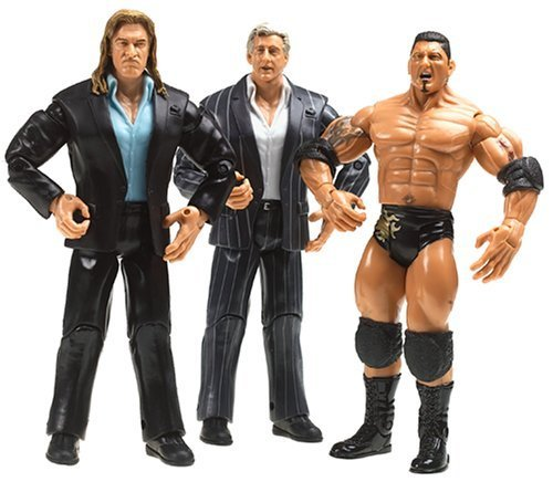 WWE 3-Pack Figures: Triple H, Ric Flair, Batista by Jakks