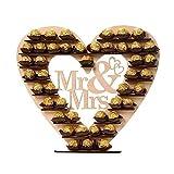 Mr & Mme Ferrero Rocher Coeur Présentoir Centre de Table pour Parties, Décorations...