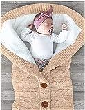 Poplover Neugeborenes Baby Swaddle-Decke Vlies Kinderwagen Wrap Schlafsäcke Beige