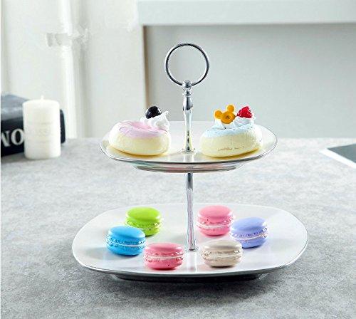 clg-fly doppio strato di frutta vassoio idee semplice e moderno set torta piatto da dessert in ceramica il soggiorno restaurant-style fruttiera 26*25cm 1