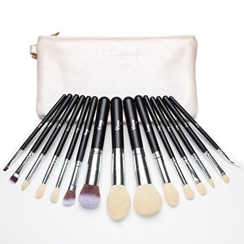 11e6714098cd Qivange Makeup Brushes Synthetic Cosmetics Brush Set with Cosmetic ...