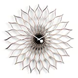 Vitra 20125601 Sunflower Clock Ø 750 mm Birke schwarz, Quarz-Uhrwerk, inklusiv 1.5 V Batterie