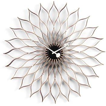 Vitra 20125601 sunflower clock 750 mm birke schwarz quarz uhrwerk inklusiv 1 5 v batterie - Wanduhr sunflower ...
