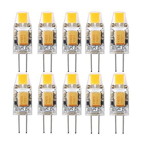 Preisvergleich Produktbild SHINE-CO 10 Stück LED G4 COB AC/DC 12V 2W 3000K Entspricht 20W Halogen Glühbirne (Warmweiß)