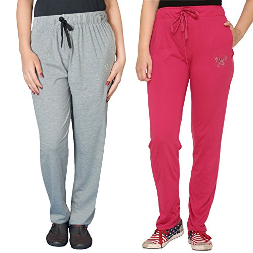 CUPID WOMEN COTTON TRACK PANTS ( COMBO PACK OF 2) (XXX-Large)