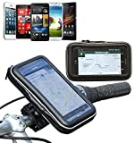 Navitech wasserfeste Fahrrad-Halterung und Tasche für Smart Phones & Handys inkl das Apple iPhone 5, Samsung Galaxy Note, Note 2, Optimus VU, HTC EVO.