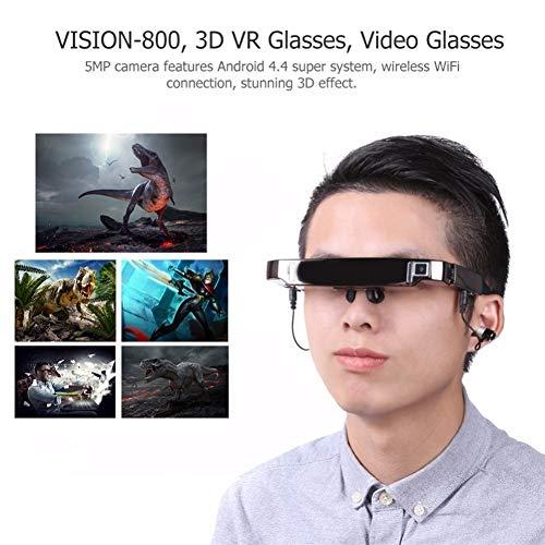 SYYL Intelligente 3D VR-Brille Virtuelle Breitbild-Videobrille Bluetooth Portable Private Theater Mit 5 MP Camer (Video Brille Virtual Theater)