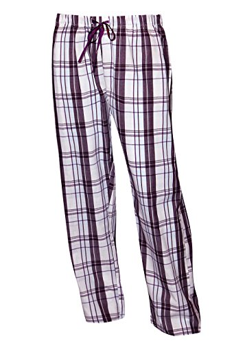 Moonline nightwear Schlafanzughose lang Damen Pyjamahose lang Damen Lange Pyjamahose aus 100% Baumwolle Gr L, 1 Stück