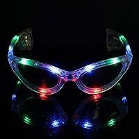 Bazaar LED Sonnenbrillen ende blinkende bunte Glow Sonnenbrillen