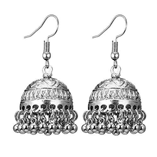 Ohrringe, Barlingrock 1 Paar Mode Ohrringe Shiny Geometric Design Boho Anhänger Ohrringe Frauen/Mädchen Runde Ball Circle Bell Love Ohrringe