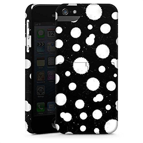 Apple iPhone X Silikon Hülle Case Schutzhülle Schwarz Weiß Muster Punkte Premium Case StandUp