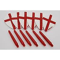 Harrows Dimplex–Juego de dardos en forma de pera y tallo 2 flights / 2 stems Talla:medium - 48mm
