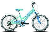 Legnano Ciclo 686 8L636V Seahorse, Bicicletta Bimba, Verde Chiaro, 20