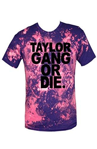 TRVPPY Batik Herren T-Shirt Shirt mit vielen verschiedenen Motiven, Gr. XS-XXL Taylor Gang Or Die-Schwarz