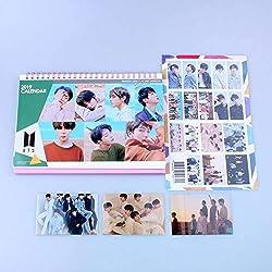 BTS 2019-2020 Bangtan - Calendario de escritorio con pegatinas de fotos