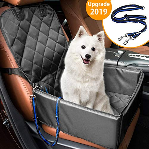 MATCC Hunde Autositz für Kleine Mittlere Hunde Rückbank & Vordersitz Hundesitz Wasserdicht Autositzbezug Hundedecke mit Extra Hunde Sicherheitsgurt Sitzbezug Für Haustier Reise