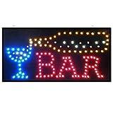 NEU WEIN COCKTAIL-BAR PUB CLUB SCHAUFENSTERAUSLAGE LICHT LED SIGN 48cmx24cm LAMPE