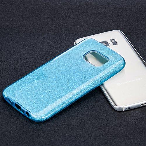 Samsung Galaxy S7 Custodia, Sunroyal® UltraSlim Glite Bling Soft Mat TPU Silicone Case Cover per Samsung Galaxy S7 (2016) G930F Morbido Protettiva Cassa e Cristallo Bling Strass, Maze Rosa Modello 28