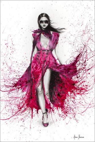 Poster 61 x 91 cm: Expressiv in Gucci von Ashvin Harrison - hochwertiger Kunstdruck, neues Kunstposter